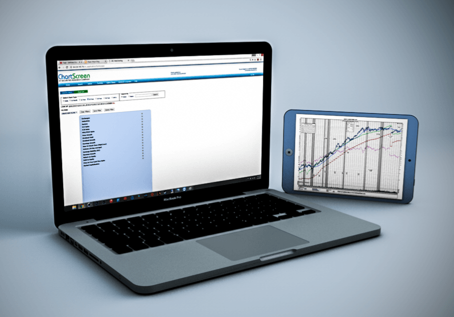 SRC's ChartScreen Online Service. Relied upon by investors for its stock fundamental search and filtering capabilities; breadth and depth of historical stock data; and its crystal clear, full-color presentation.